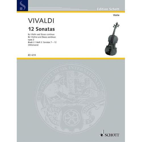 SCHOTT VIVALDI 12 SONATAS OP 2, BOOK 2, SONATAS 7-12