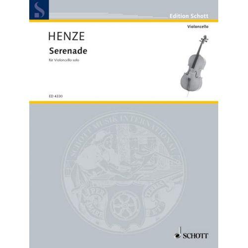 SCHOTT HENZE HANS WERNER - SERENADE - CELLO