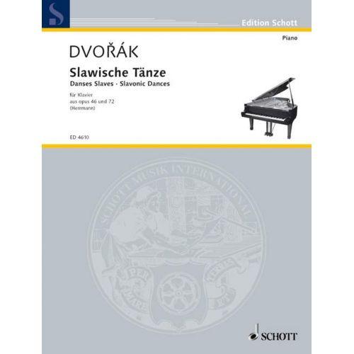 SCHOTT DVORAK ANTONIN - SLAVONIC DANCE - PIANO
