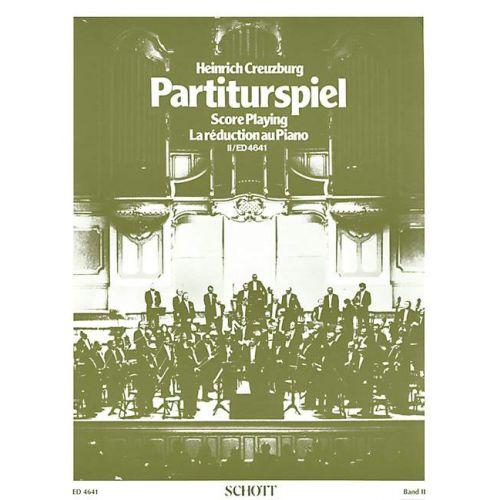 SCHOTT HEINRICH CREUZBURG - SCORE PLAYING VOL.2