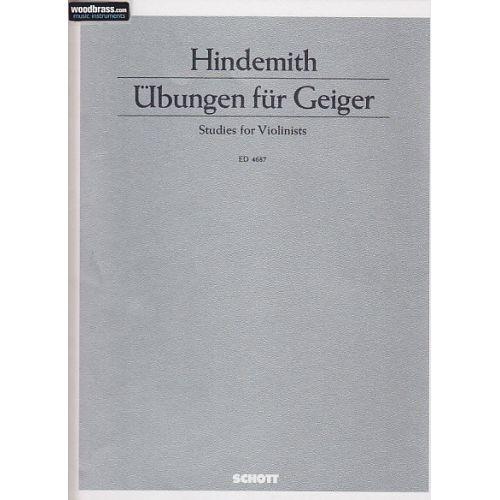 SCHOTT HINDEMITH PAUL - UBUNGEN FUR GEIGER - VIOLIN