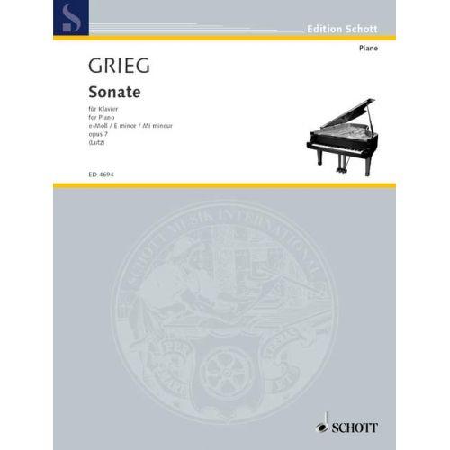 SCHOTT GRIEG EDVARD - SONATA E MINOR OP.7 - PIANO