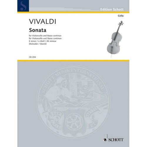 SCHOTT VIVALDI ANTONIO - SIX SONATAS - CELLO AND BASSO CONTINUO
