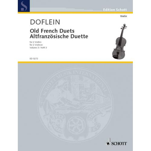 SCHOTT OLD FRENCH DUETS BAND 3 - 2 VIOLINS