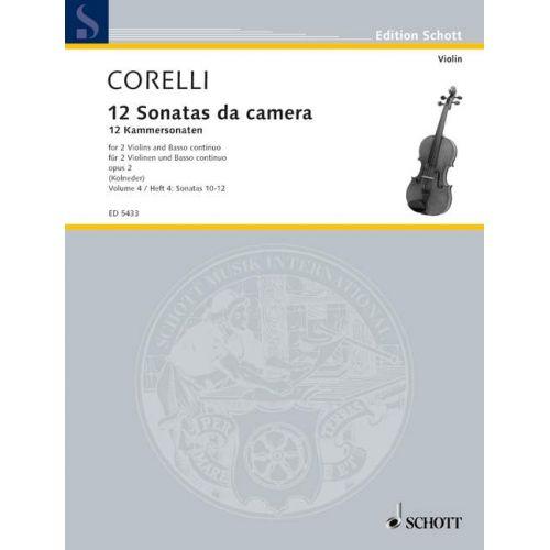 SCHOTT CORELLI ARCANGELO - TWELVE CHAMBER SONATAS OP 2 BAND 2