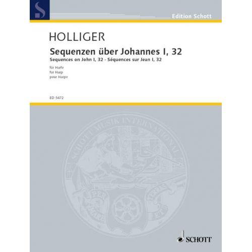 SCHOTT HOLLIGER HEINZ - SEQUENZEN ÜBER JOHANNES I, 32 - HARP