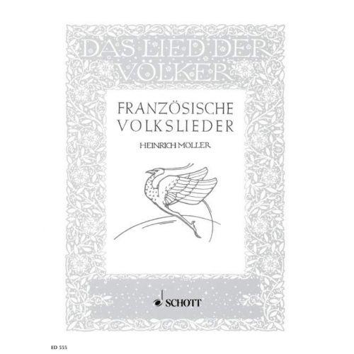 SCHOTT FRANZOSISCHE VOLKSLIEDER - VOICE AND PIANO