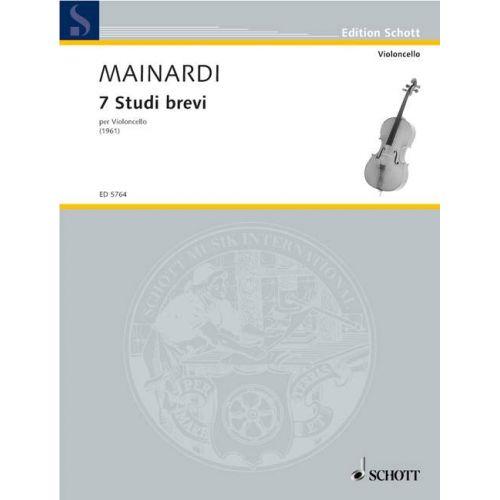 SCHOTT MAINARDI ENRICO - SETTE STUDI BREVI - CELLO