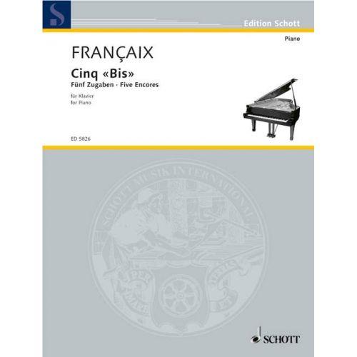 SCHOTT FRANCAIX JEAN - CINQ