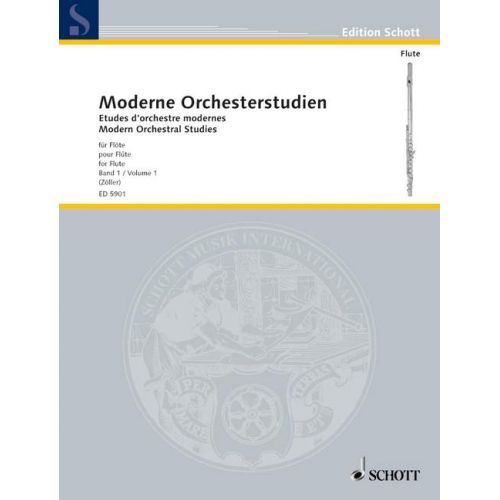 SCHOTT MODERN ORCHESTRAL STUDIES FOR FLUTE BAND 1 - FLUTE