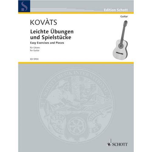 SCHOTT KOVATS BARNA - LEICHTE ÜBUNGEN UND SPIELSTÜCKE - GUITAR