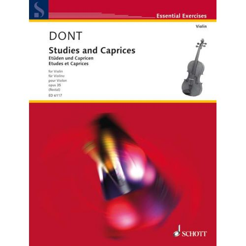 SCHOTT DONT JACOB - STUDIES AND CAPRICES OP. 35 - VIOLIN