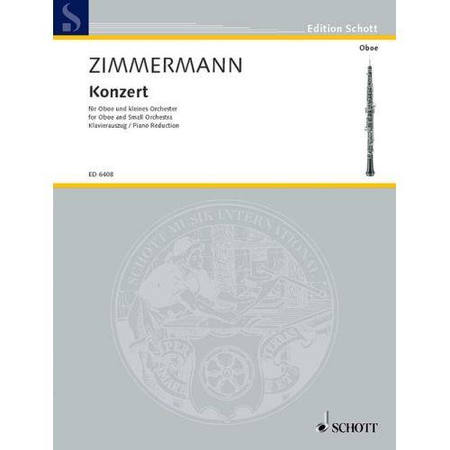 SCHOTT ZIMMERMANN BERND ALOIS - CONCERTO - OBOE AND SMALL ORCHESTRA