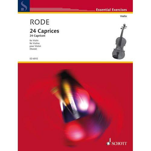 SCHOTT RODE JACQUES P. JOSEPH - 24 CAPRICES - VIOLIN