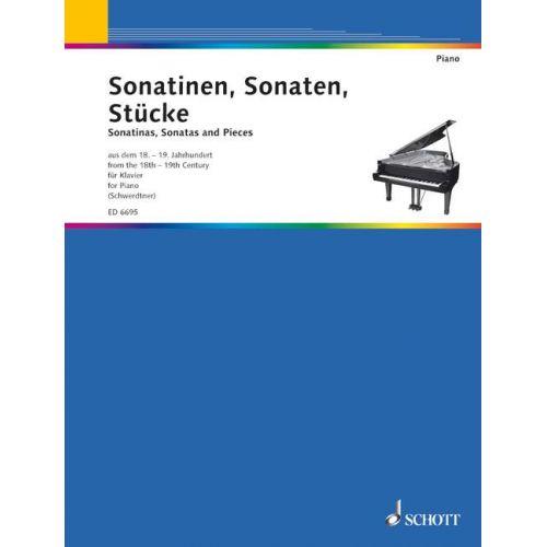 SCHOTT SONATINAS, SONATAS, PIECES - PIANO
