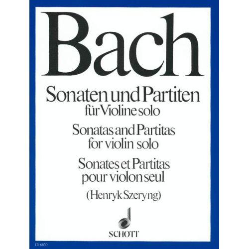 SCHOTT BACH J.S. - SONATAS ET PARTITAS - VIOLON SOLO