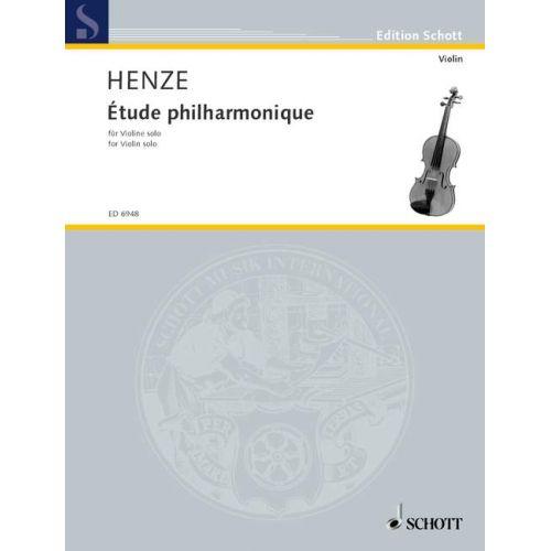 SCHOTT HENZE HANS WERNER - ETUDE PHILHARMONIQUE - VIOLIN