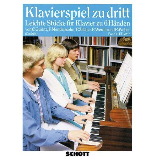 SCHOTT KLAVIERSPIEL ZU DRITT BAND 1 - PIANO
