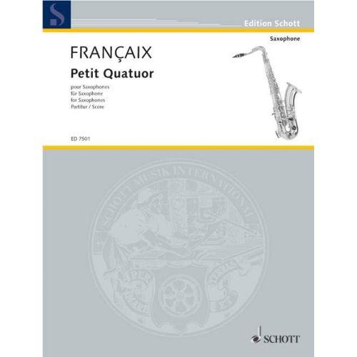 SCHOTT FRANCAIS JEAN - PETIT QUATUOR - 4 SAXOPHONES (SATBAR)