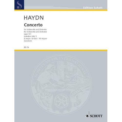 SCHOTT HAYDN JOSEPH - CONCERTO D MAJOR OP 101 HOB VIIB:2 - CELLO AND ORCHESTRA