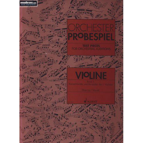 SCHOTT ORCHESTER-PROBESPIEL VIOLON VOL. 1