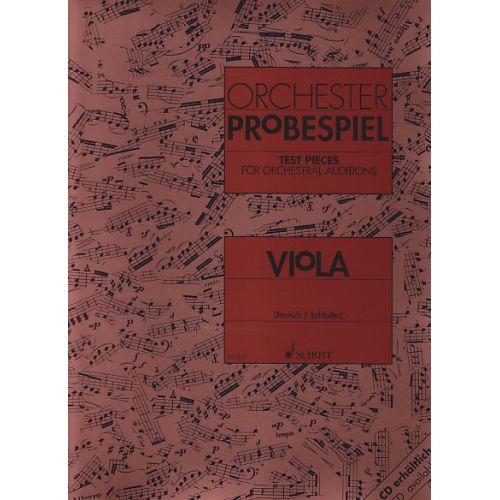 SCHOTT ORCHESTER-PROBESPIEL - VIOLA