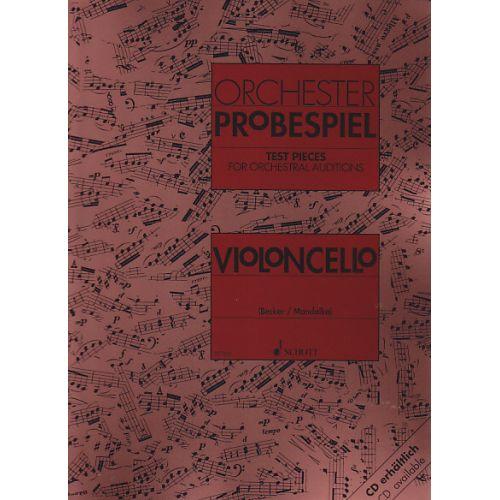 SCHOTT ORCHESTER-PROBESPIEL - VIOLONCELLO