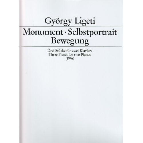 SCHOTT LIGETI G. - MONUMETN, SELBSTPORTRAIT, BEWEGUNG - 2 PIANOS