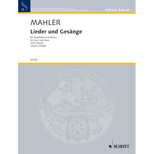 SCHOTT MAHLER GUSTAV - LIEDER UND GESANGE HEFT 2 - VOICE PART AND PIANO