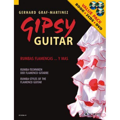 SCHOTT GRAF-MARTINEZ GERHARD - GIPSY GUITAR + CD + DVD - GUITAR