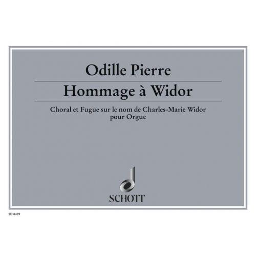 SCHOTT PIERRE ODILE - HOMMAGE A WIDOR OP. 5 - ORGAN