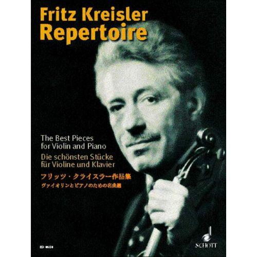 SCHOTT FRITZ KREISLER REPERTOIRE 1 VIOLON ET PIANOA