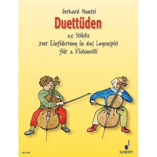 SCHOTT MANTEL GERHARD - DUETUDES - 2 CELLOS