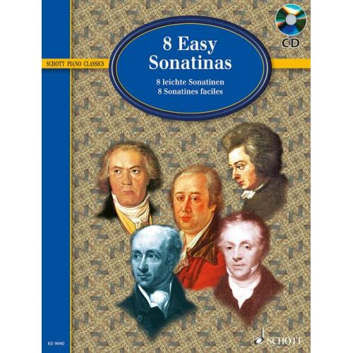 SCHOTT EIGHT EASY SONATINAS + CD - PIANO
