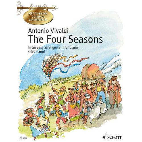 SCHOTT VIVALDI ANTONIO - THE FOUR SEASONS OP. 8/1-4 - PIANO