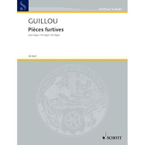 SCHOTT GUILLOU JEAN - STEALTHY PIECES OP.58 - ORGAN