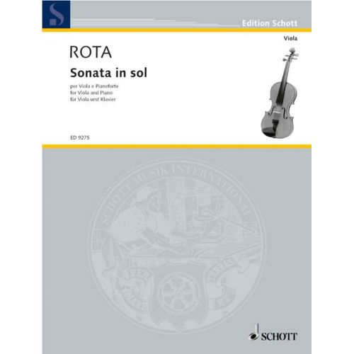 SCHOTT ROTA NINO - SONATA IN SOL - VIOLA AND PIANO