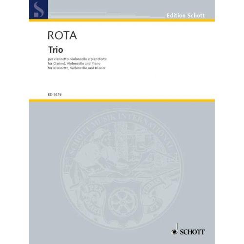 SCHOTT ROTA NINO - TRIO - CLARINET, CELLO AND PIANO