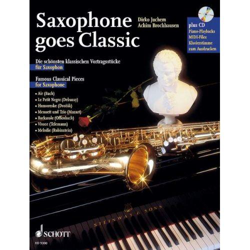 SCHOTT SAXOPHONE GOES CLASSIC + CD