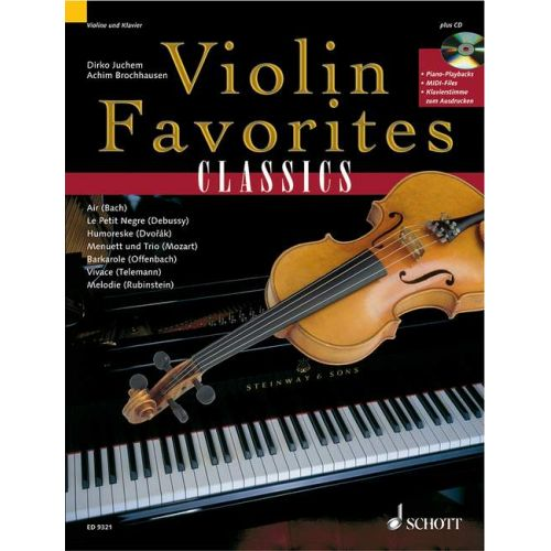 SCHOTT VIOLIN FAVOURITES CLASSICS + CD - VIOLIN PIANO AD LIB.