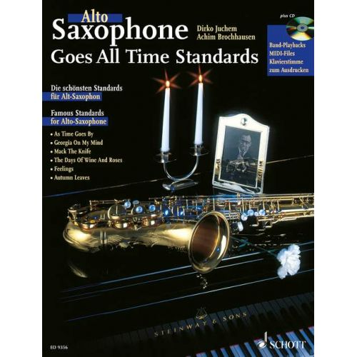 SCHOTT SAXOPHONE GOES ALL TIME STANDARDS - ALTO SAXOPHONE PIANO AD LIB.