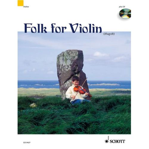 SCHOTT FOLK FOR VIOLIN + CD - 1-2 VIOLINS