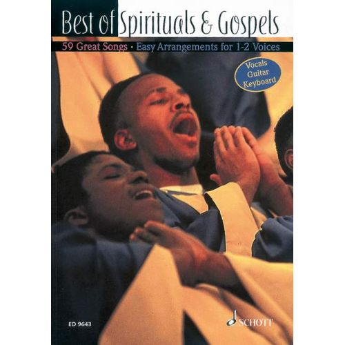 SCHOTT BEST OF SPIRITUALS & GOSPELS - VOICE AND GUITAR