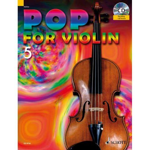 SCHOTT POP FOR VIOLIN BAND 5 - 1-2 VIOLINS