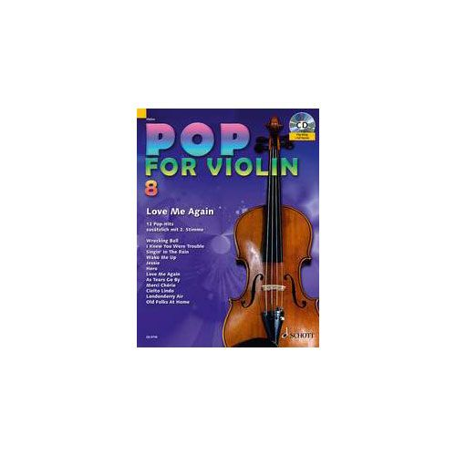 SCHOTT ZLANABITNIG MICHAEL - POP FOR VIOLIN BAND 8 - 1-2 VIOLINS