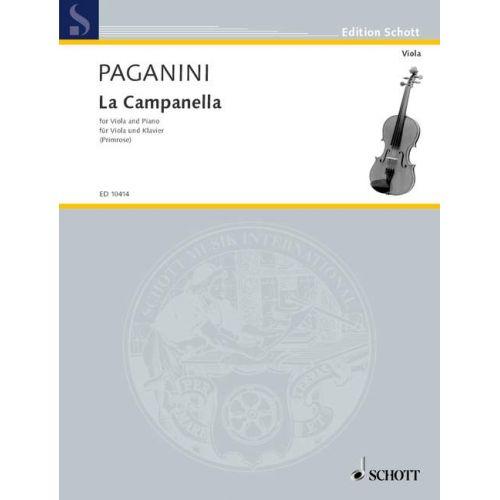 SCHOTT PAGANINI N. - LA CAMPANELLA - ALTO ET PIANO