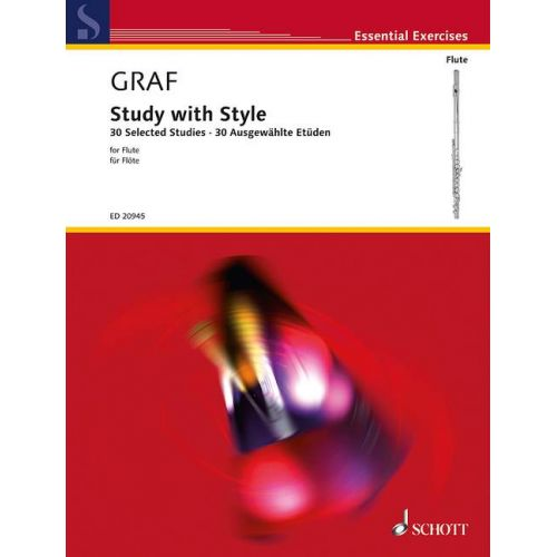 SCHOTT GRAF P.L.- STUDY WITH STYLE- FLUTE