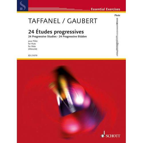 SCHOTT TAFFANEL P.- GAUBERT P.- 24 PROGRESSIVE STUDIES IN ALL KEYS- FLUTE