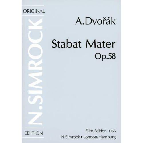 SIMROCK DVORAK ANTONIN - STABAT MATER OP. 58 - 4 SOLOISTS, MIXED CHOIR AND ORCHESTRA