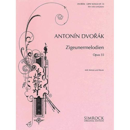 SIMROCK DVORAK ANTONIN - GIPSY SONGS OP. 55 - LOW VOICE AND PIANO